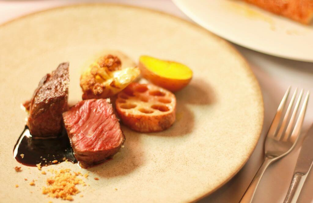 秋のランチコース メイン料理 お肉